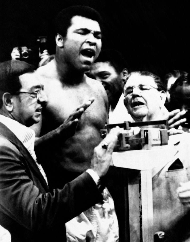 Muhammad Ali weighs in