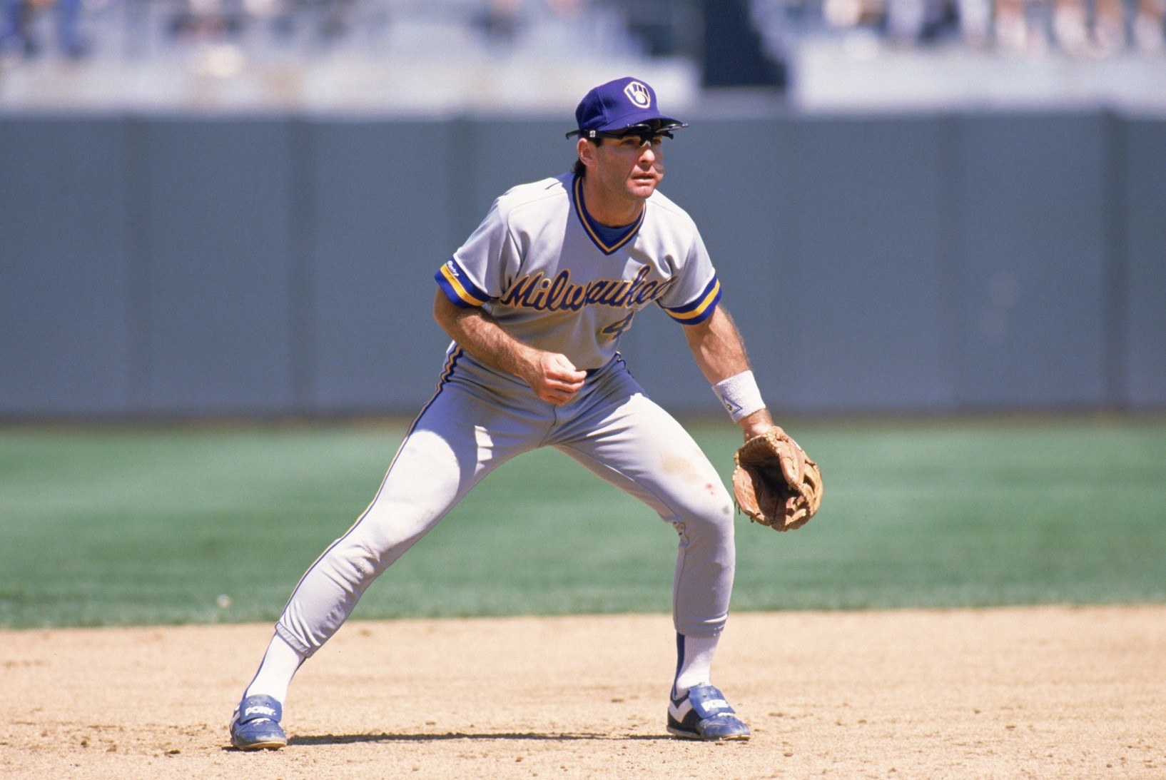 Paul Molitor in the field with the Brewers