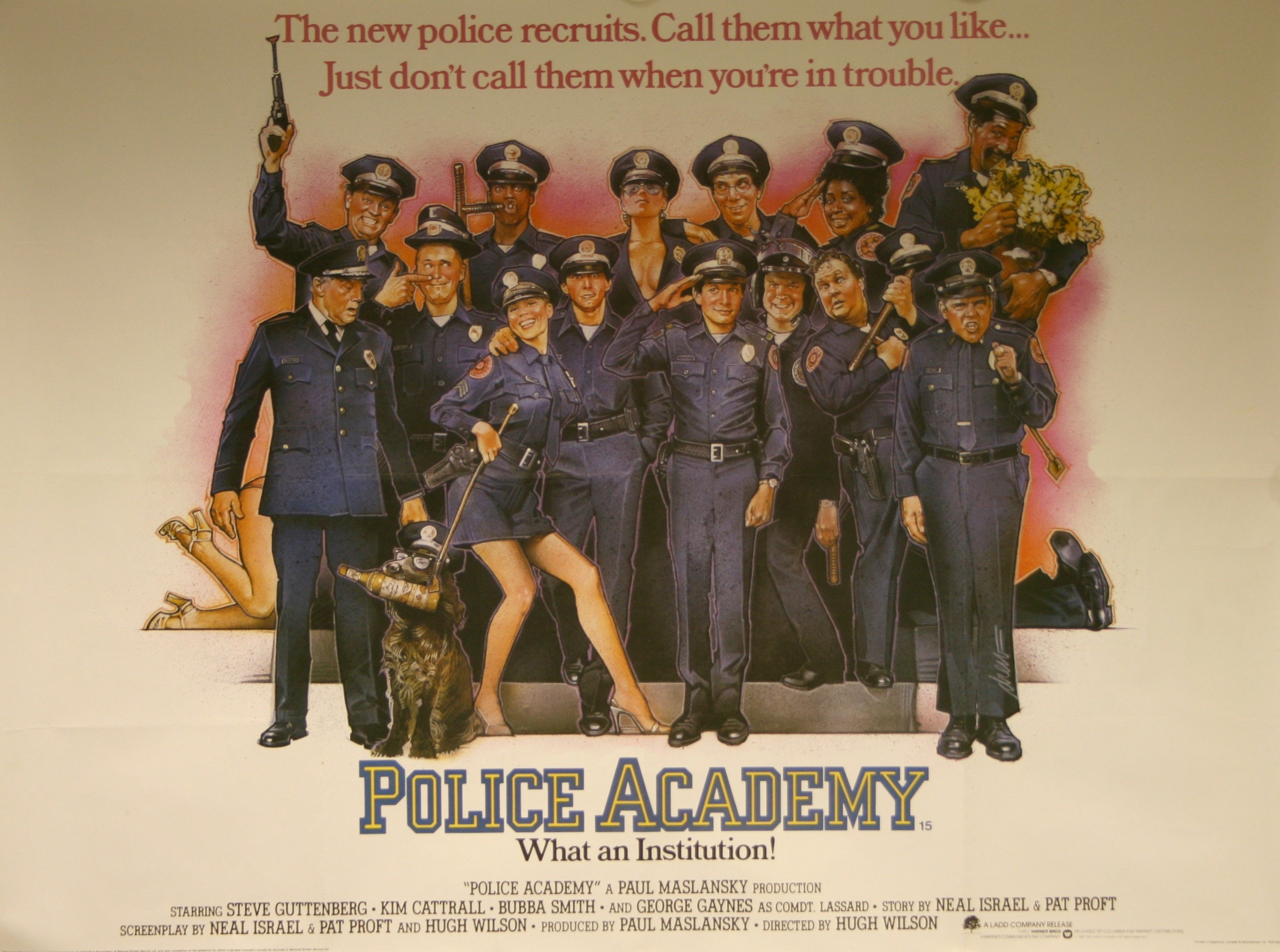 1987 movie poster for Police Academy