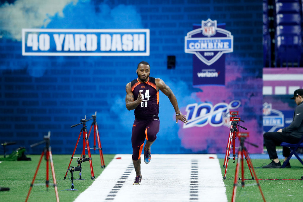 Zedrick Woods ran one of the fastest 40-yard dash times at the 2019 NFL combine.