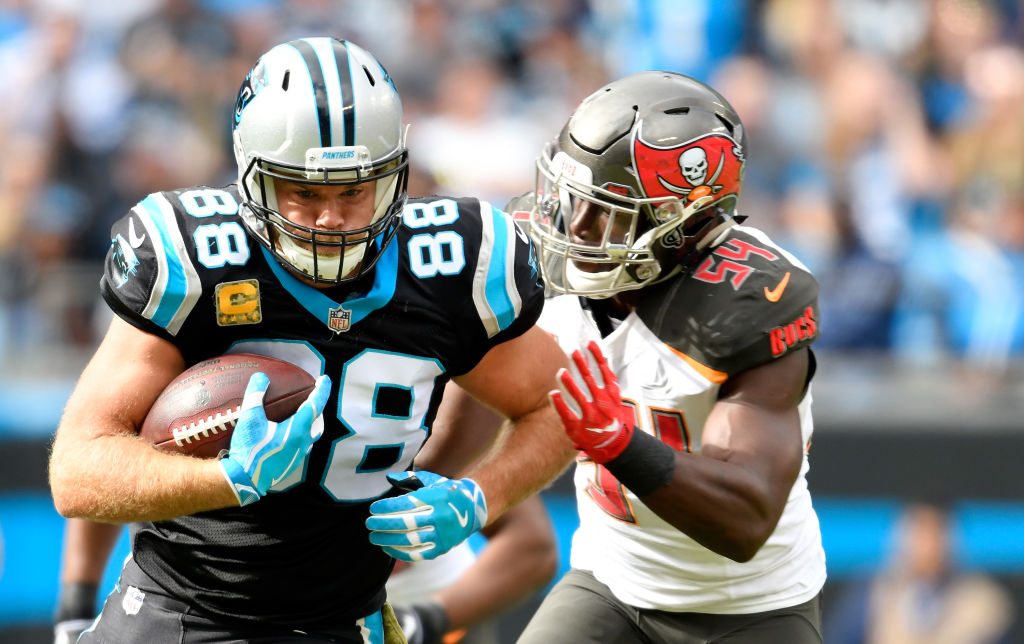 Greg Olsen is one of the best tight ends of his era.