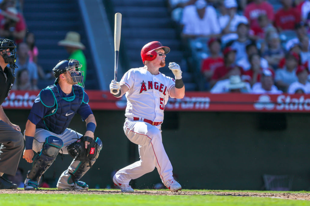 The Angels' Kole Calhoun has one of the longest opening day streaks in baseball