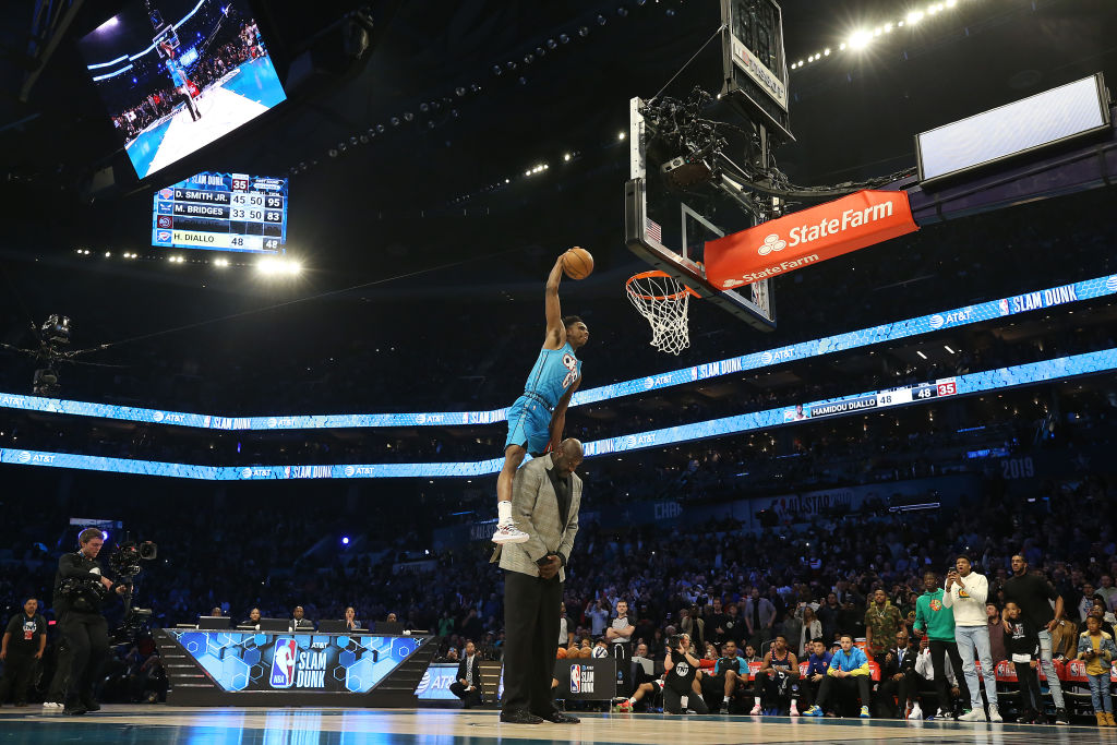 Hamidou Diallo has one of the highest verticals in the NBA