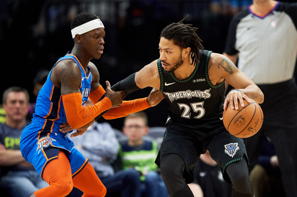 Dennis Schroeder (left) and Derrick Rose both have a chance to win NBA Sixth Man of the Year.
