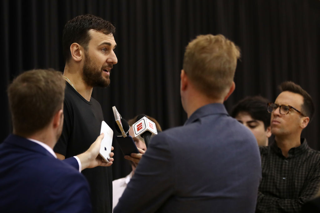 Andrew Bogut is back with the Golden State Warriors.