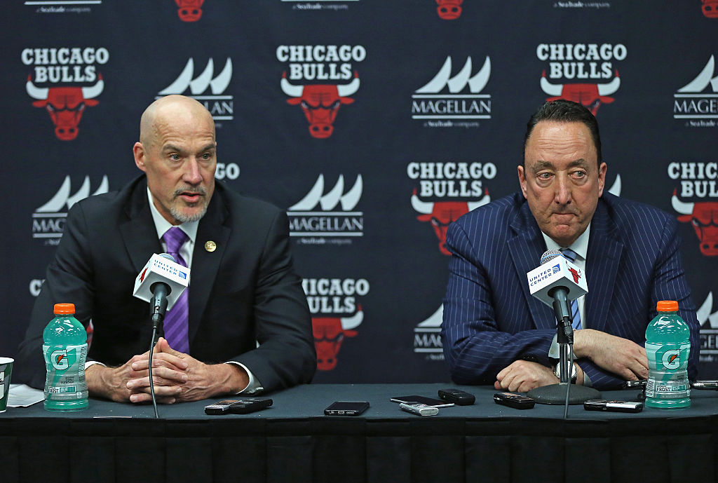 John Paxson (left) and Gar Forman comprise one of the worst front offices in the NBA