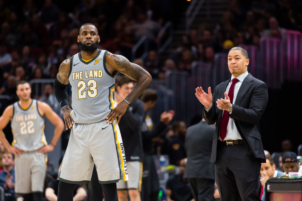 Tyronn Lue coaches LeBron James in Cleveland and could be on the shortlist to replace Luke Walton as Los Angeles Lakers coach.
