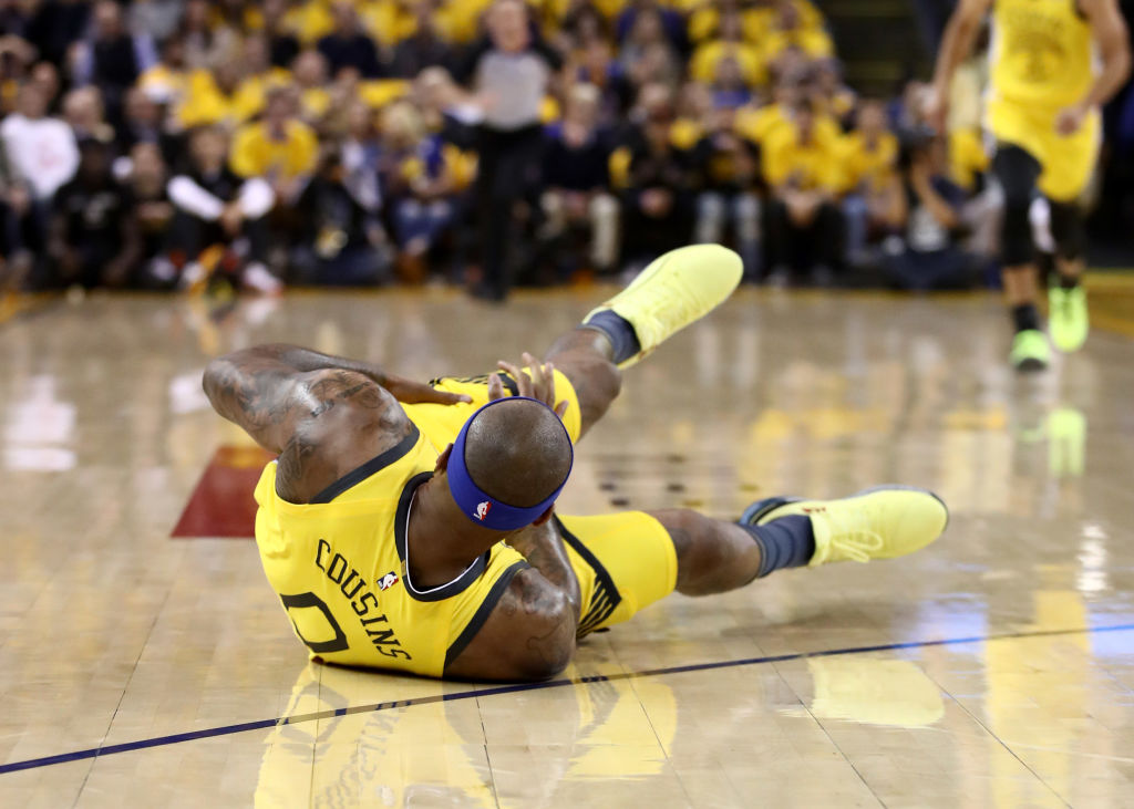 DeMarcus Cousins has had some tough injury luck during his NBA career, including a quad injury in the Warriors' second game of the 2019 playoffs.
