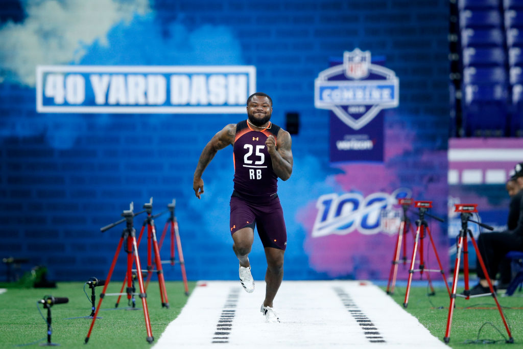 Mike Weber is one of the running backs who ran the fastest 40-yard dash times at the NFL draft combine.