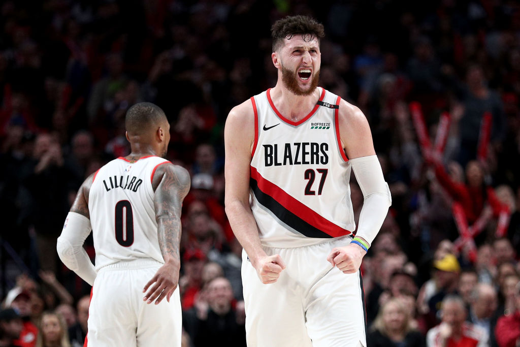 Jusuf Nurkic was a key piece to Portland's offense and defense before he got hurt.