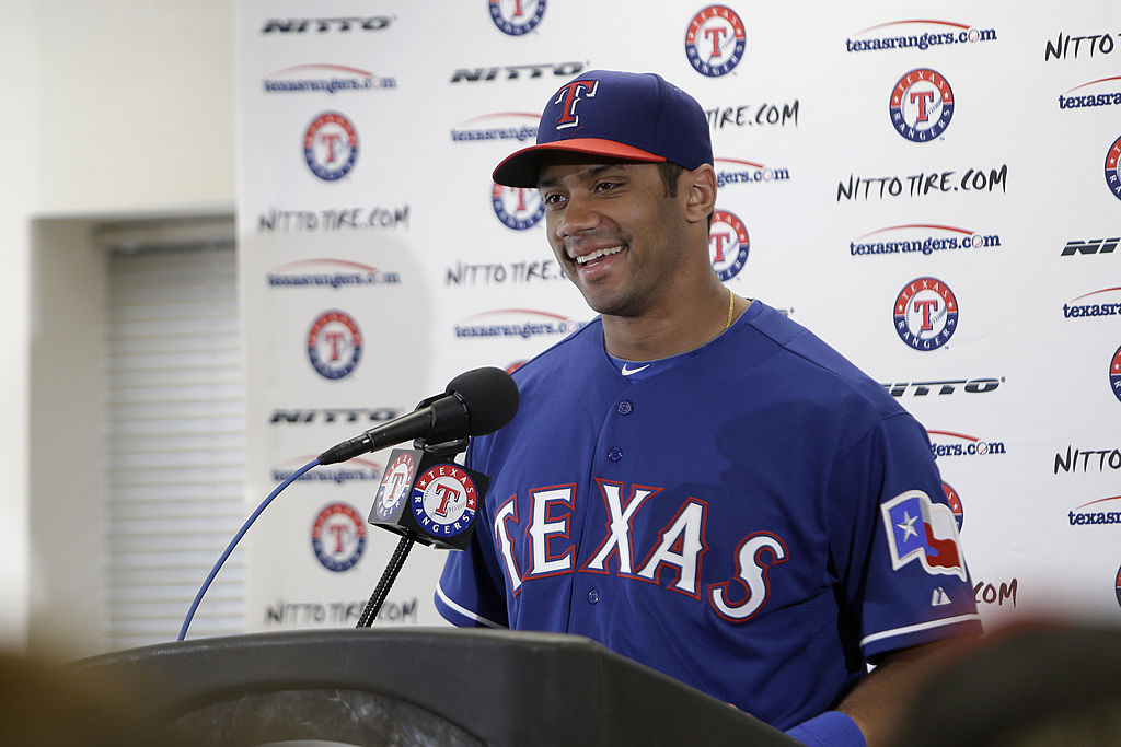 Like soon-to-be QB Kyler Murray, Russell Wilson is one of a handful of NFL players who walked away from baseball.