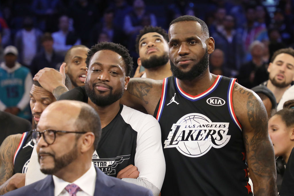 LeBron James (right) and Dwyane Wade have thoughts on teaming up again -- as owners