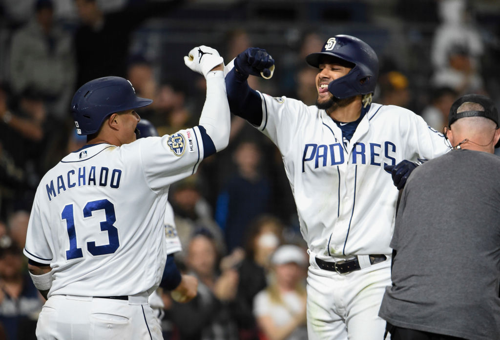 Manny Machado (left) played a big part in helping Fernando Tatis Jr. get to the big leagues sooner than expected.