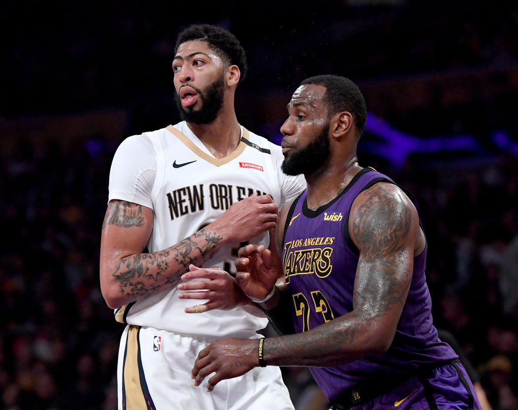 Anthony Davis could join up with LeBron James and the Lakers next season.
