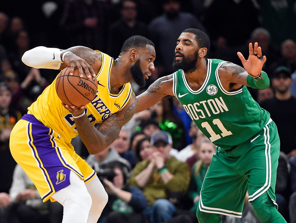 Kyrie Irving could join up with LeBron James and the Lakers next season.