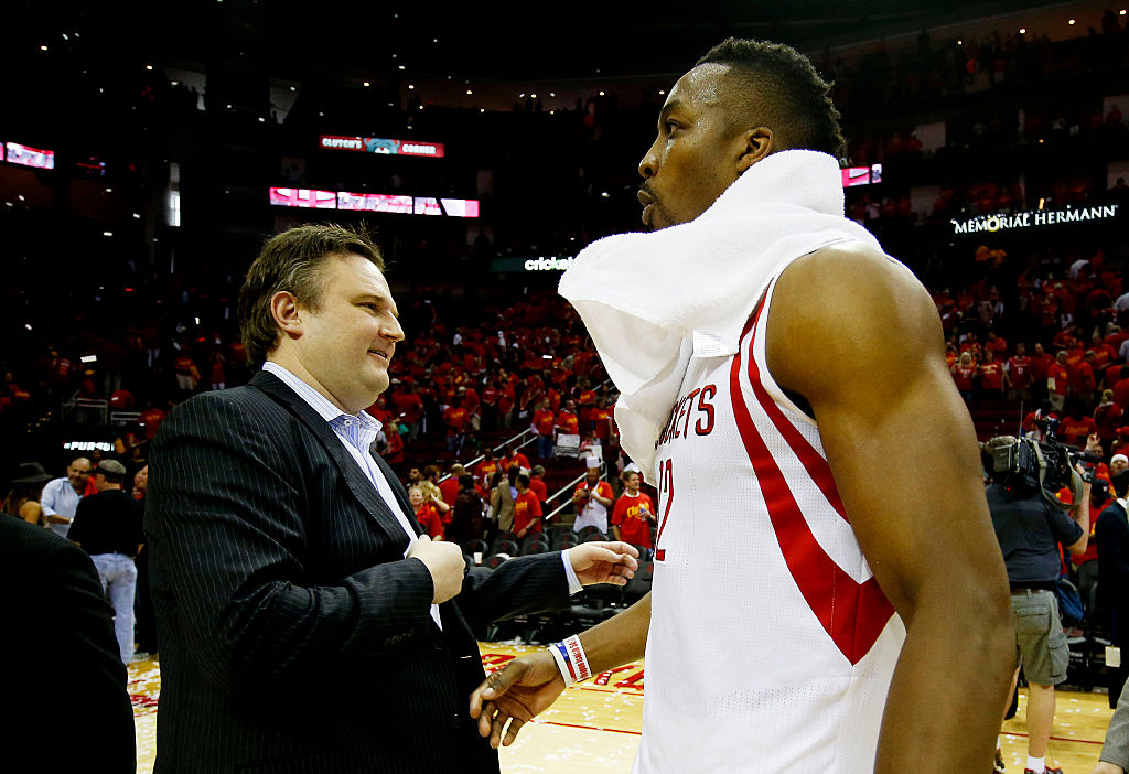Houston's Daryl Morey (left) is one of the longest-tenured NBA executives.