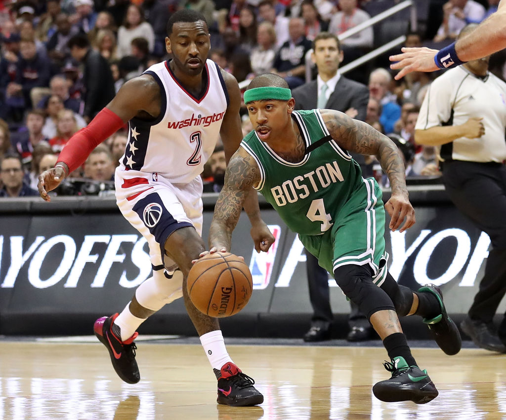 Isaiah Thomas scored 53 against the Wizards during the 2017 NBA playoffs.