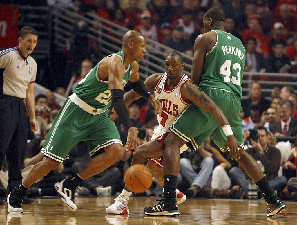 Ray Allen erupted for 51 points in a game against the Bulls in the 2009 NBA playoffs.