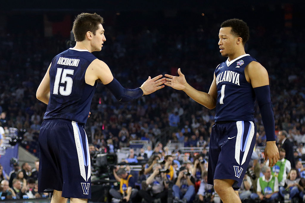 Ryan Arcidiacono and Jalen Brunson (right) are two of the handful of NBA players who won NCAA basketball titles.