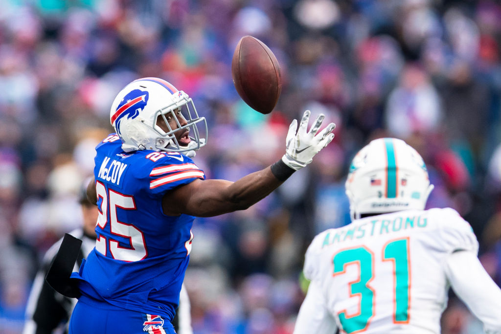 LeSean McCoy is one of the NFL players who might be traded before the 2019 season kicks off.