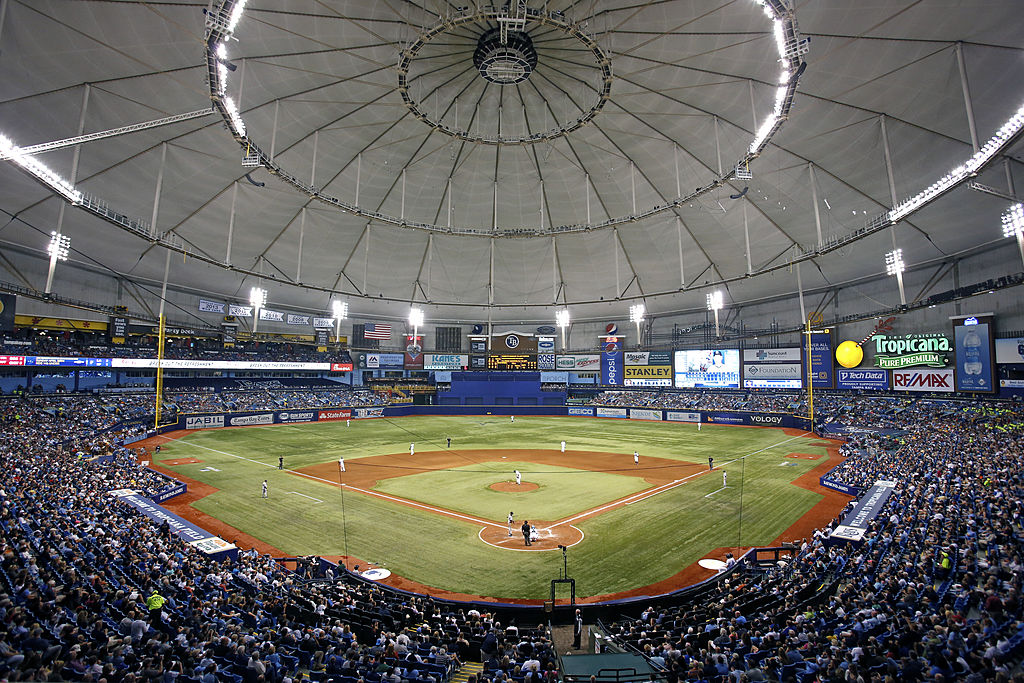 Tampa's Tropicana Field is one of the oldest stadiums in baseball.