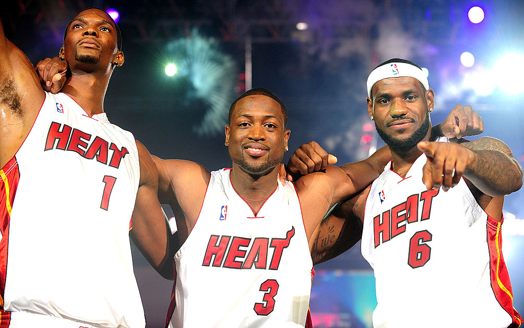 Chris Bosh (from left), Dwyane Wade, and LeBron James set the precedent for what Russell Wilson did with his contract negotiations with the Seattle Seahawks.