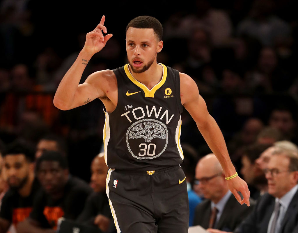 The Warriors Steph Curry needed just one playoff game to set an NBA postseason record