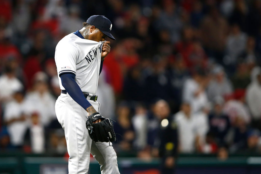 The Yankees less than stellar bullpen, which includes Aroldis Chapman's decreased velocity, is one of the problems at the start of the 2019 season.
