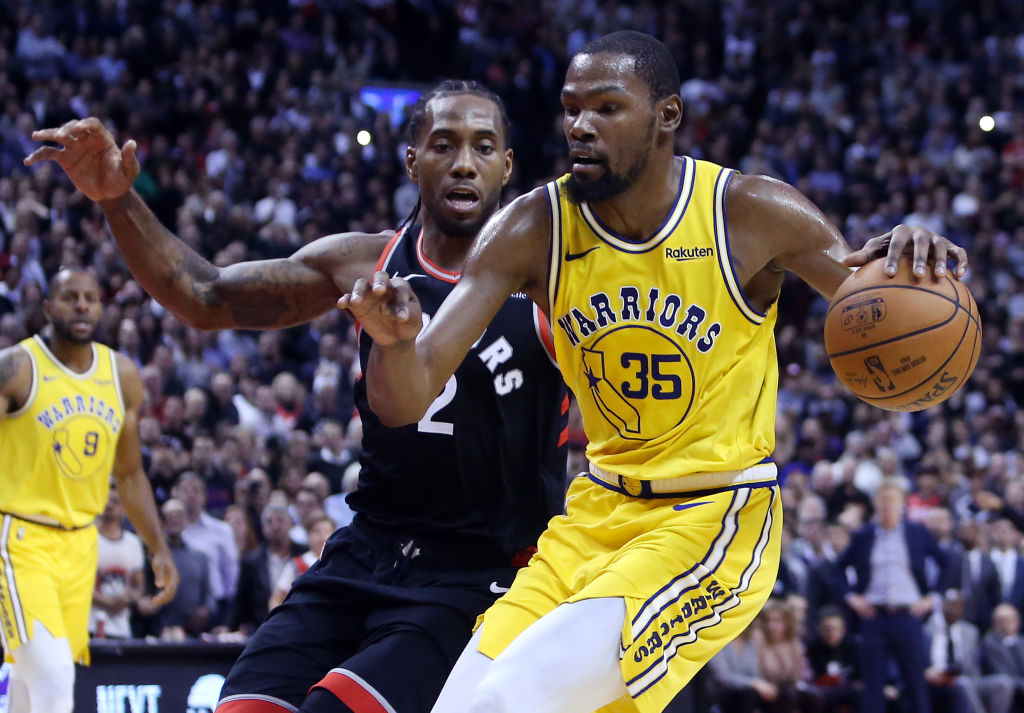 Kawhi Leonard leads the Toronto Raptors against Kevin Durant and the Golden State Warriors in the 2019 NBA Finals.