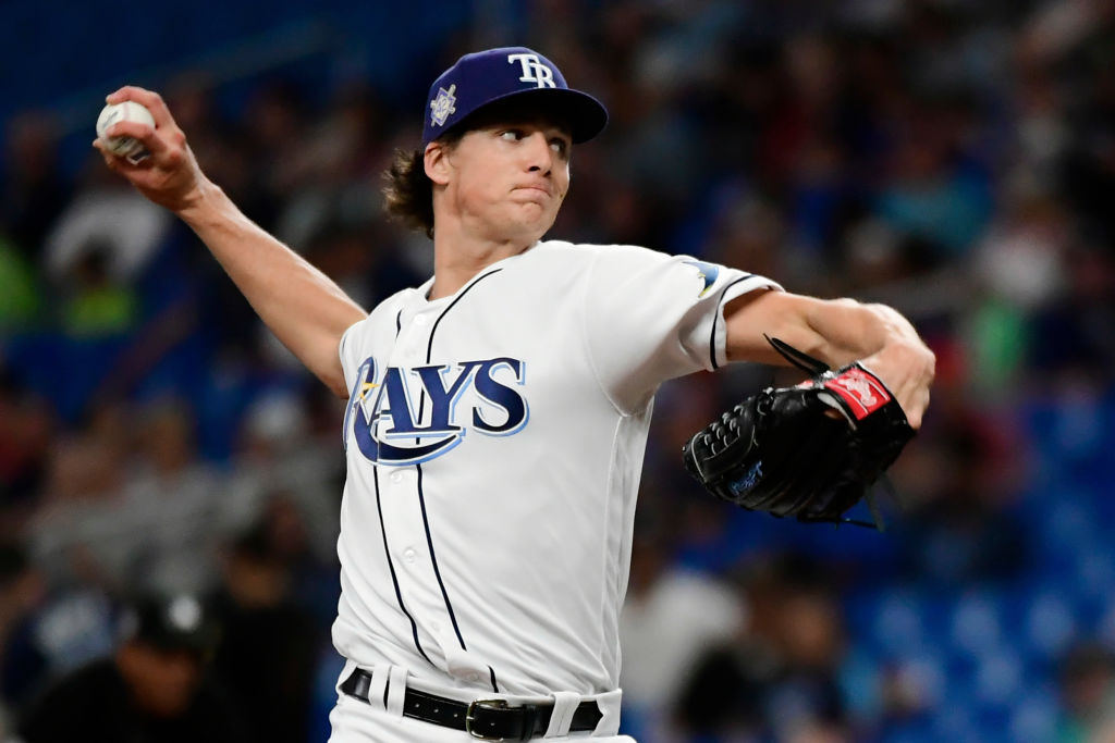 Tyler Glasnow could give Tampa back-to-back AL Cy Young Award winners after Blake Snell won in 2018.
