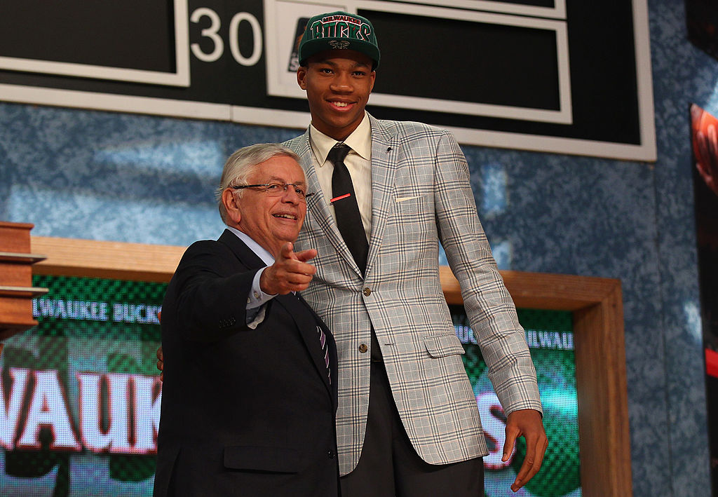 Giannis Antetokounmpo fell all the way to No. 15 in the 2013 NBA draft
