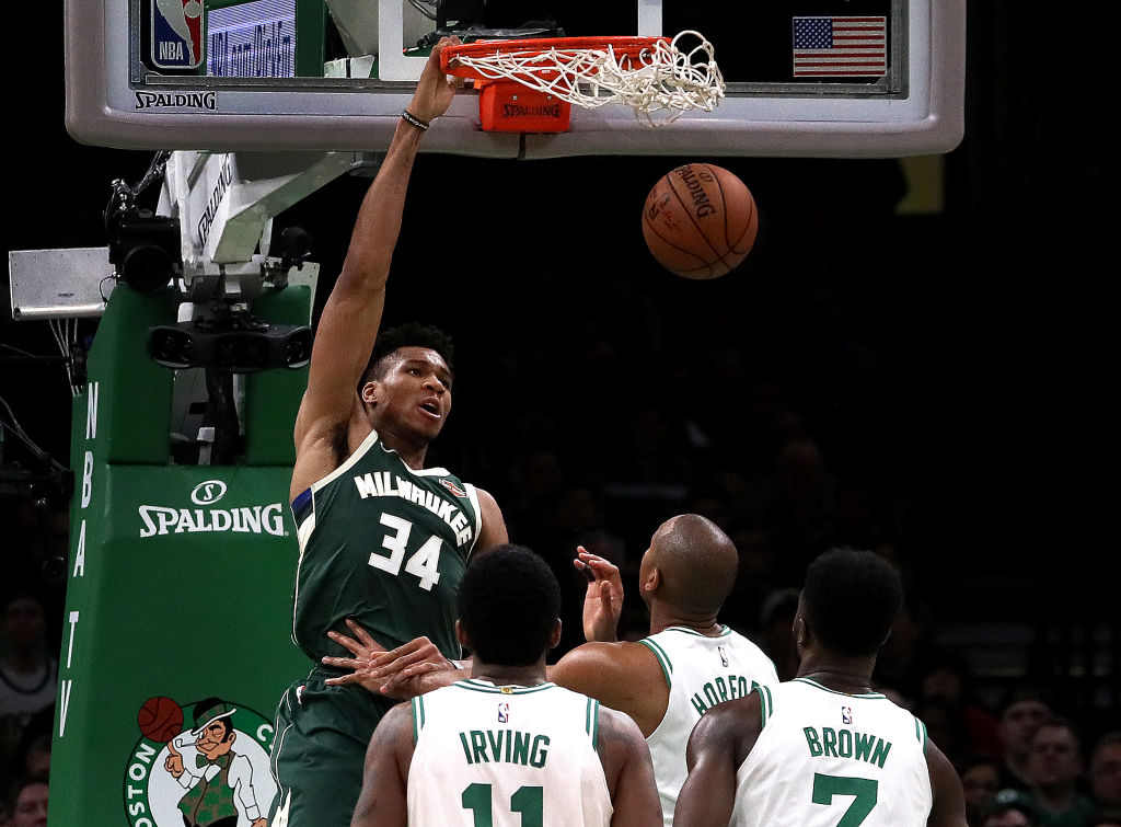 Giannis Antetokounmpo took it to the Celtics in the 2019 NBA playoffs, but Boston coach Brad Stevens loves him anyway