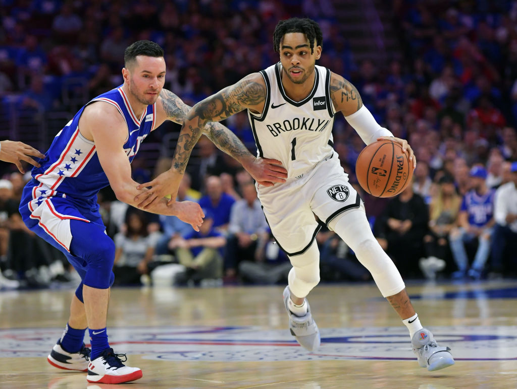 If they play it right, D'Angelo Russell (right) the Brooklyn Nets could soon rise in the Eastern Conference.