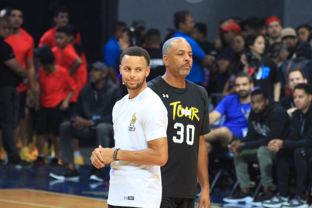 Stephen Curry (left) and his dad, Dell Curry, didn't think Golden State was a good destination.