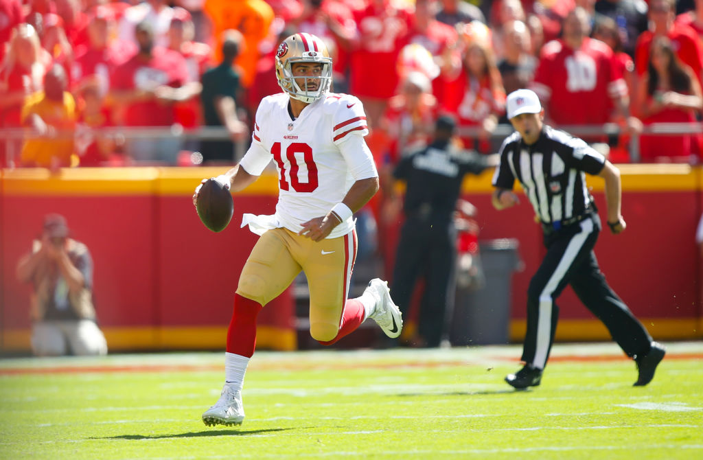 Jimmy Garoppolo is reacting to the game, not thinking, which should scare opponents.