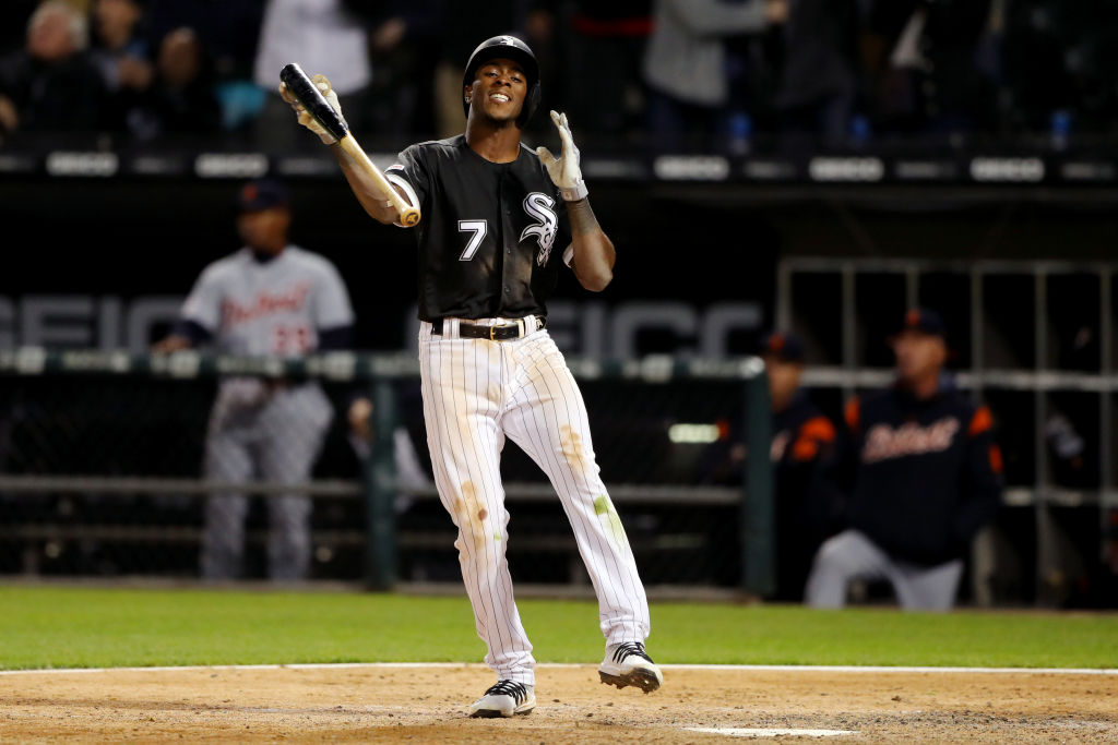 One of Tim Anderson's bat flips early in the 2019 season drew the ire of the Kansas City Royals.