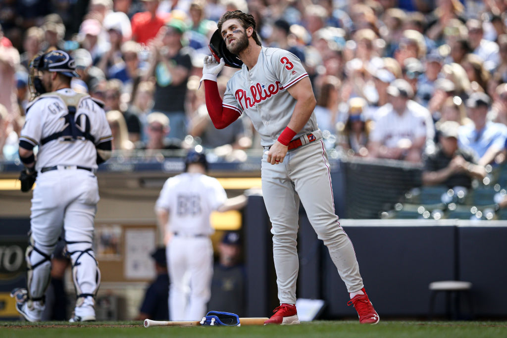 Bryce Harper is one of the struggling MLB stars in 2019.