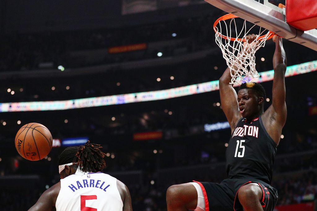 The Rockets Clint Capela had one of the best field goal percentages in the 2019 NBA playoffs after the first round.
