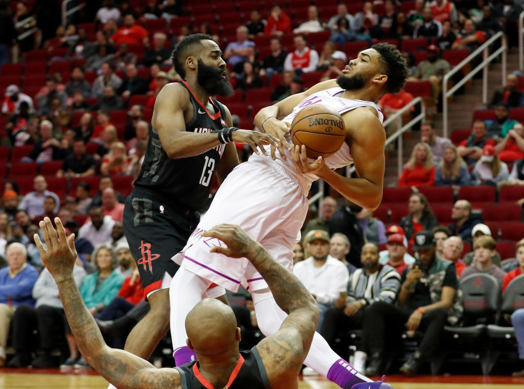 James Harden and Karl-Anthony Towns both committed a ton of fouls during the 2018-19 NBA season.
