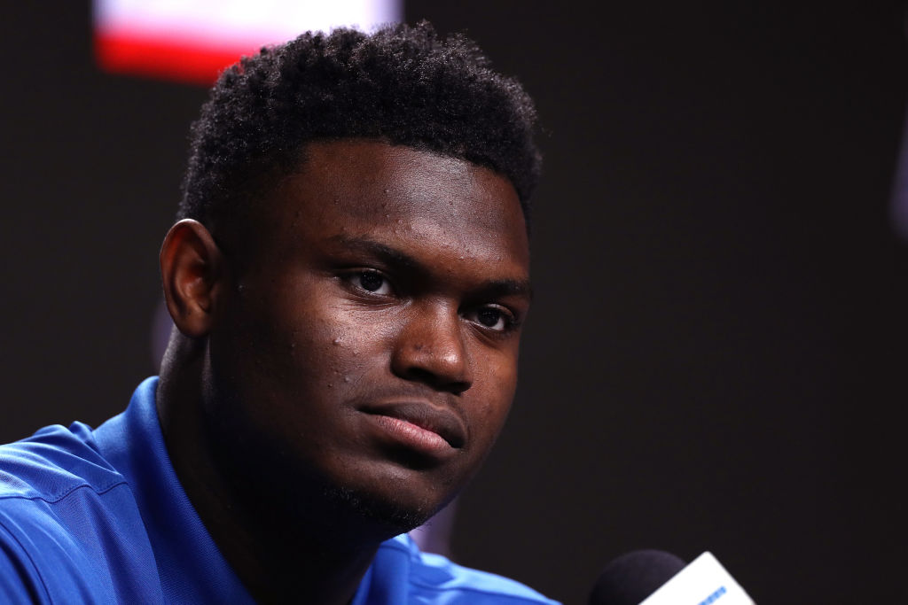 Don't expect any insane trade offers from teams looking to move up and draft Zion Williamson.
