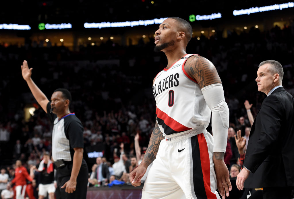 Damian Lillard is one of the only players to win an NBA playoffs series with a buzzer-beater.