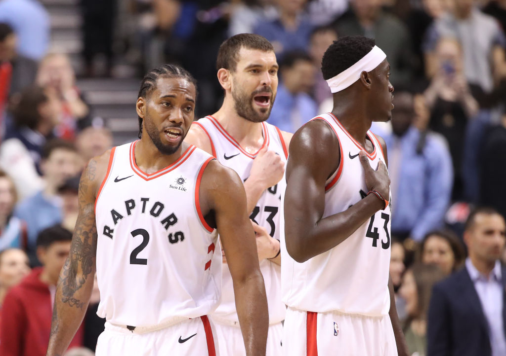 Kawhi Leonard, Marc Gasol, and Pascal Siakam lead the Toronto Raptors into the 2019 Eastern Conference Finals.