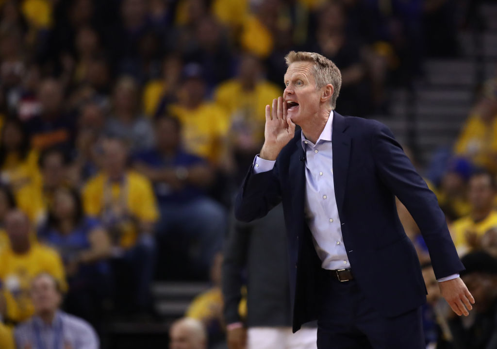 Steve Kerr leads the Warriors to the Western Conference finals for the fifth straight time during the 2019 NBA playoffs.