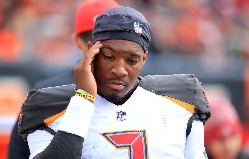 Jameis Winston is one of the NFL quarterbacks who might have to settle for less on their next contracts.