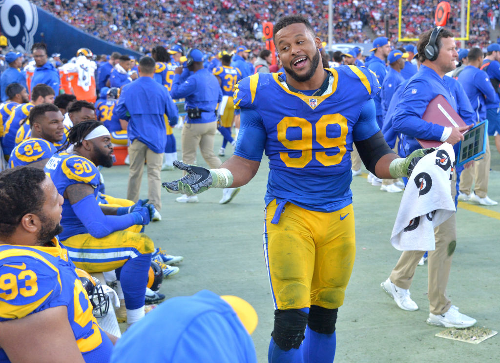 The Rams' Aaron Donald is one of the highest-paid NFL players in 2019.