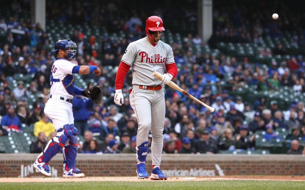 Should the Philadelphia Phillies start worrying about Bryce Harper's struggles at the plate?