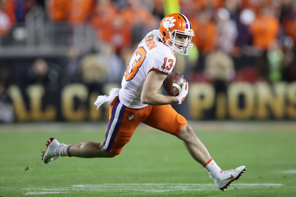 Receiver Hunter Renfrow is one of several Clemson players the Raiders picked in the 2019 NFL draft.