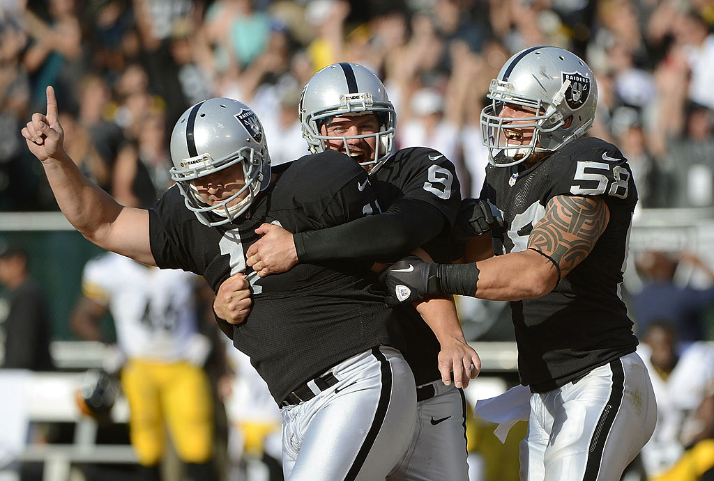 Is Sebastian Janikowski (left) destined for the football Hall of Fame?