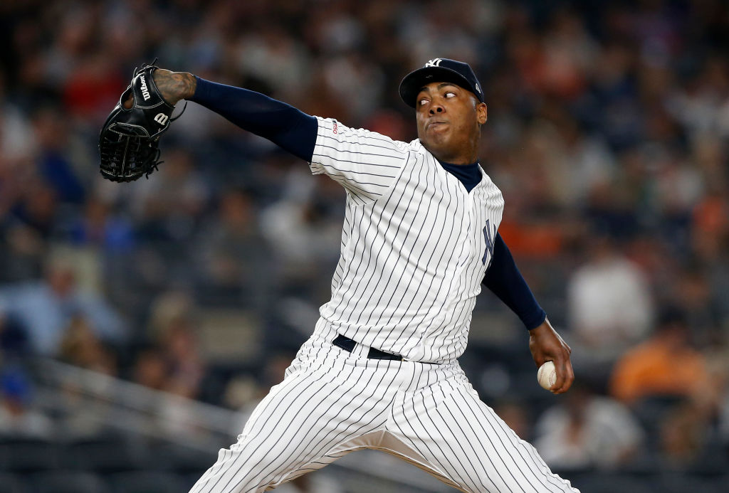 Yankees pitcher Aroldis Chapman