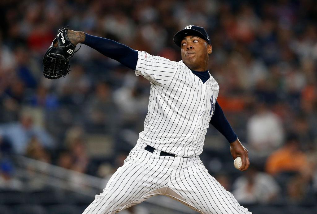 Yankees pitcher Aroldis Chapman